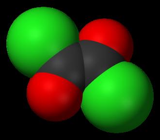 Oxalyl chloride - Image: Oxalyl chloride 3D vd W