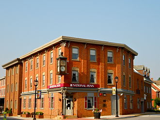 Oxford, Pennsylvania - Image: Oxford Historic District bank PA