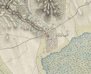 Pákozd - Image: Pákozd első katonai felmérés térképe
