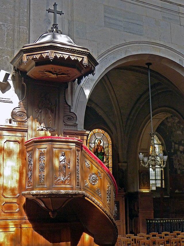 Bon Lundi 640px-P1200751_Paris_III_eglise_Ste-Elisabeth-de-Hongrie_chaire_rwk