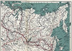P507 Map of Siberia, showing Dr Nansen's routes, outward and homeward.jpg