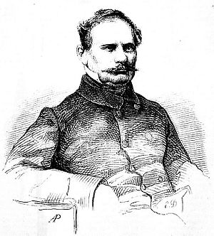 Wincenty Pol - Etching from a photograph, by Adolf Piwarski (1862)