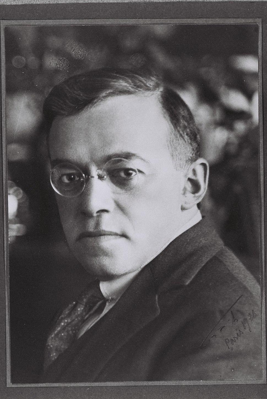 PORTRAIT OF VLADIMIR JABOTINSKY TAKEN BY BRITT IN PARIS. פורטרט, זאב ז'בוטינסקי.D850-062