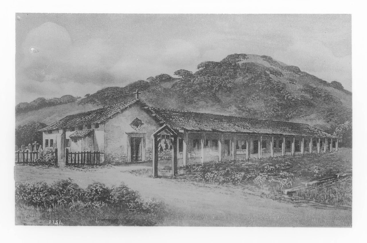File Painting Of Mission San Rafael Archangel Ca 1900