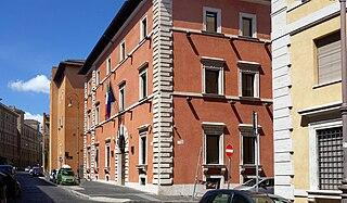 Palazzo Alicorni building in Rome, Italy