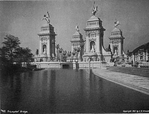 Carrère and Hastings - Carrère was Chairman of the Board of Architects for the 1901 Pan-American Exposition, and designed the Triumphal Bridge and the landscape features throughout the fairgrounds