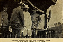 United States President, Theodore Roosevelt wearing a Panama hat in his visit to the Panama Canal.