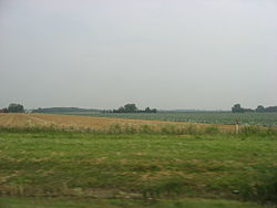 Fields in Woodville Township's northern panhandle