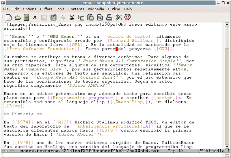 Archivo:Pantallazo Emacs.png
