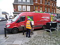 Parcel Force vehicle in Chipping Barnet.JPG