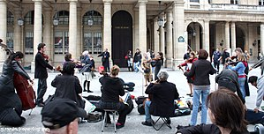 Music in Paris - Music school students play on a Paris square
