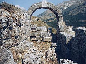 Amantia - Arched entrance in Amantia