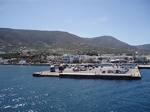 The port of Paros island