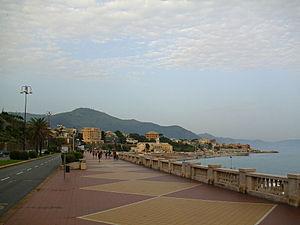 Albaro - View of Corso Italia, seafront of Albaro