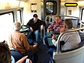 Passengers in Amtrak lounge car of San Joaquin (train) 2014.jpg