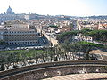 Passetto di Borgo from Castel Sant'Angelo 01.jpg