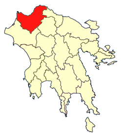 Location of Patras Province