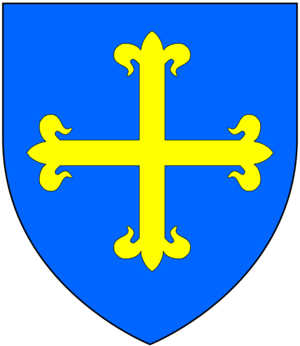 Ralph Cheyne - Arms of Paveley: Azure, a cross flory or