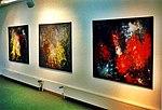 Pedro Meier – Kunsthaus Grenchen Solo-Ausstellung – »Flugbilder Atlantikflug Charles Lindbergh«Nr. 05-07 – »Bilder der letzten 15 Jahre«, 1995. Foto © Pedro Meier Multimedia Artist.jpg