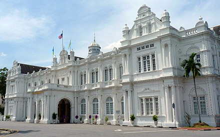 The City Hall in George Town serves as the headquarters of the Penang Island City Council. Penang City Hall.jpg