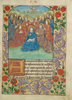 Pentecost descent of the Holy Ghost as a dove