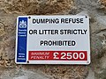 Penwith Council No Littering Sign.jpg
