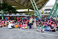 People Sitting on Taipei Expo Park Ground after Performance 20150509.jpg