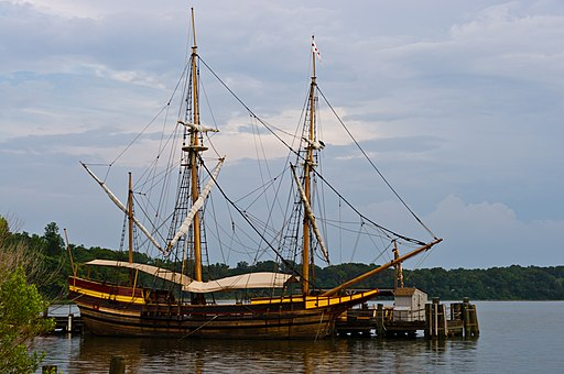 Period replica of the Dove, ship that brought first settlers to Maryland.
