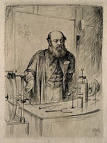 Peter Guthrie Tait. Etching by W. Hole, 1884. Wellcome V0005719.jpg