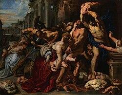 על פי השמועות.הורדוס התגלה לגדול המקובלים בחלום ואמר לו תגיד לפלח שלא ישתמש בשמי לעולם לכאורה 250px-Peter_Paul_Rubens_Massacre_of_the_Innocents