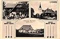Pfarrkirche, Pfarrhof, Gasthof in Modriach ca 1910.jpg