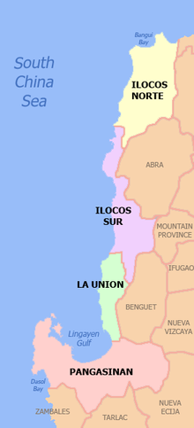 Mapang Pampolitika ng Rehiyon ng Ilocos