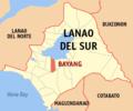 Ph locator lanao del sur bayang.png
