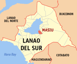Map of Lanao del Sur with Masiu highlighted