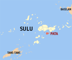 Map of Sulu with Pata highlighted