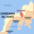 Ph locator zamboanga del norte bacungan.png