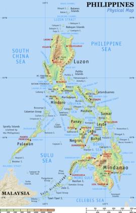 Karte Philippinen.Geographie Der Philippinen Wikipedia