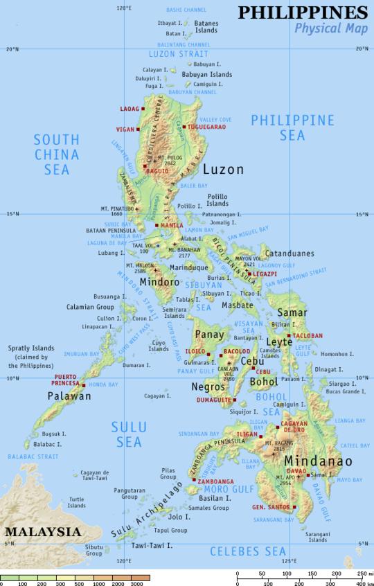 Vulkane Philippinen Karte.Geographie Der Philippinen Wikiwand