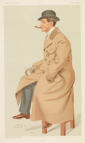 "Phil May (caricaturist) - ""Phil"", by Leslie Ward, in Vanity Fair, 1895."
