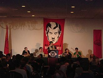 Phone Losers of America - The PLA giving their panel at the 2004 Hackers on Planet Earth convention.