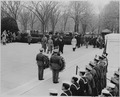 Photograph of President Truman and British Prime Minister Clement Attlee arriving at the Tomb of the Unknown Soldier... - NARA - 199248.tif