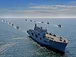 Pictured is The Helicopter Carrier HMS Ocean during Exercise BALTOPS 2015. MOD 45159995.jpg