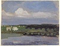 Piet Mondriaan - Watercourse, field with cows and sky with cloud - 0334221 - Kunstmuseum Den Haag.jpg