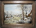 Pieter bruegel il giovane (da bruegel il vecchio), paesaggio invernale con trappola per uccelli, 01.JPG