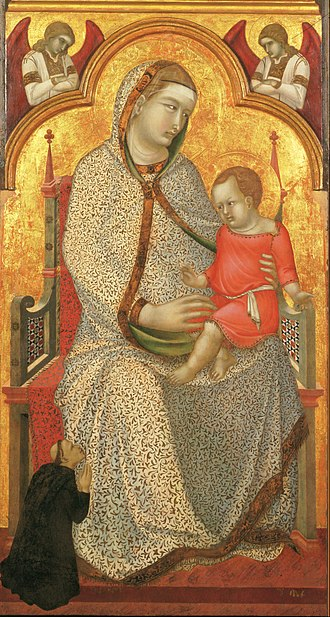 John G. Johnson - Image: Pietro Lorenzetti, Italian (active Siena, Assisi, Arezzo, and Florence), first documented 1306, last documented 1345 Virgin and Child Enthroned and Donor, Angels Google Art Project