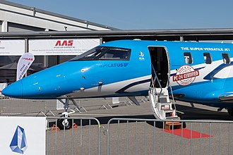 Pilatus PC-24 - Type certification was granted on 7 December 2017, as placarded at the April 2018 AERO Friedrichshafen.
