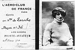 Pilot licence of the first licensed female pilot in the world 1910.jpg
