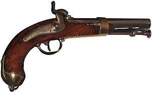 Side arm - Navy Pistol model 1837, used as a sidearm in the 19th-century French Navy