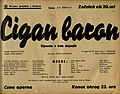 Plakat za predstavo Cigan baron v Narodnem gledališču v Mariboru 14. februarja 1940.jpg