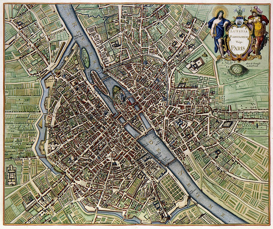 fileplan de paris en 1657jpg